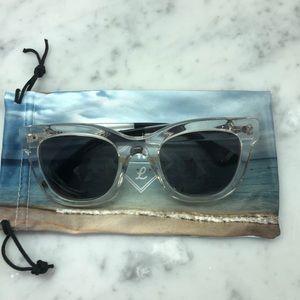 d14447deaa9e4 Wonderland clear frame sunglasses